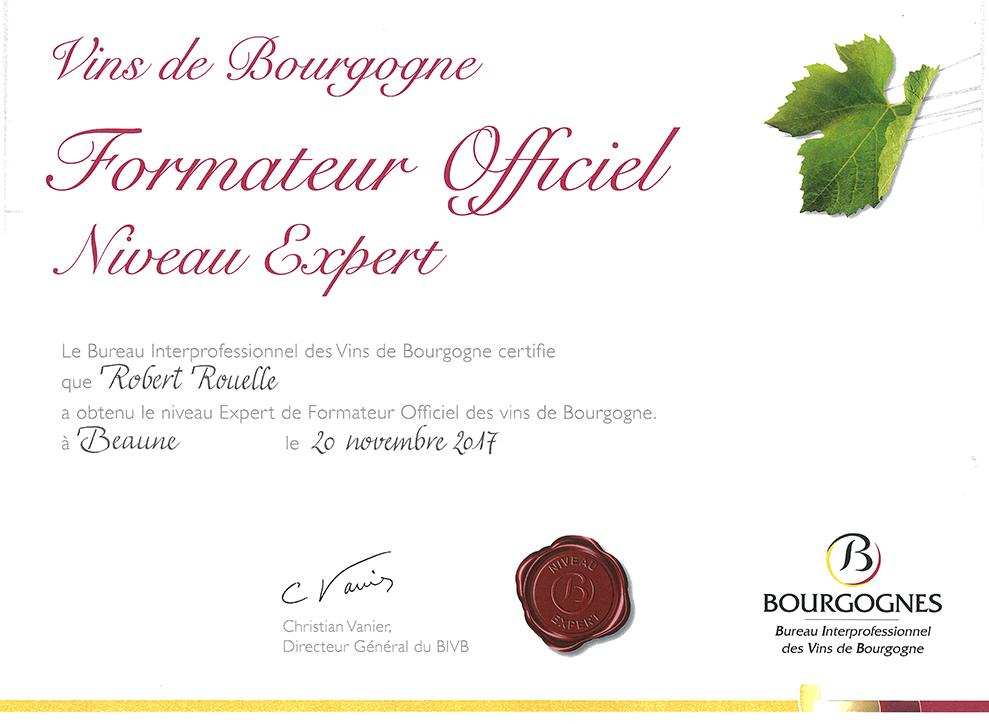 ACCREDITATION BOURGOGNE Robert Rouelle